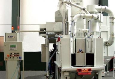多工位转盘箱式喷砂机