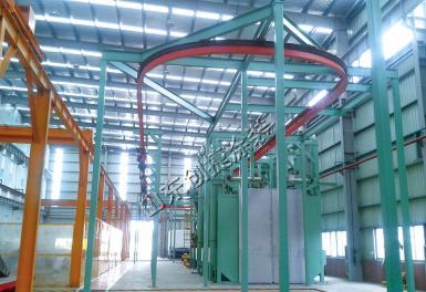 工程机械自行葫芦涂装线