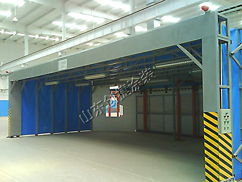 伸缩式喷漆房设计的工艺要求