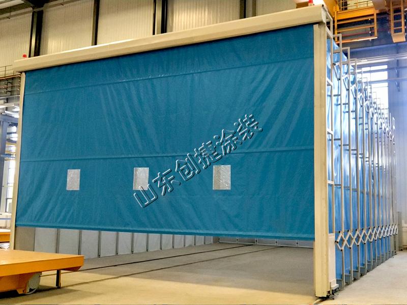 移动伸缩式喷漆房设备设计、安装技术要点分析