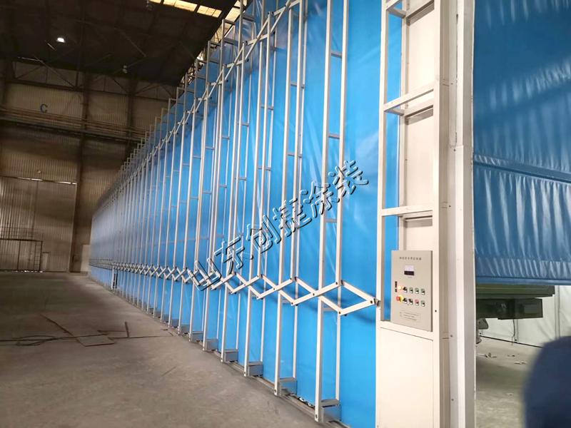 伸缩式喷漆房在大中型机械设备中的应用